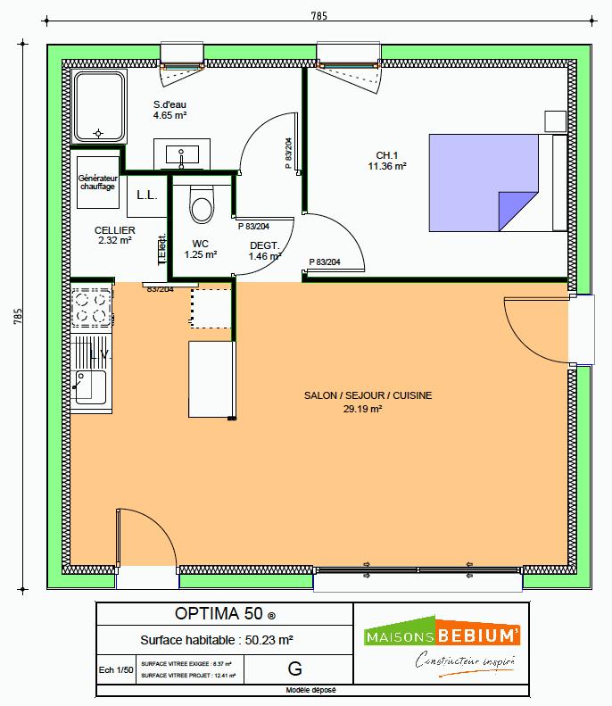 Plan De Petite Maison 50 M2 Plain Pied Prix Maisons Bebium