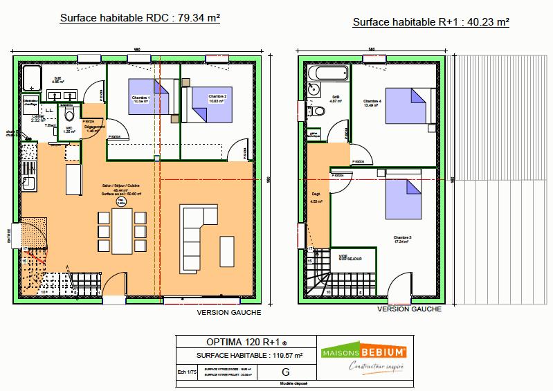 Avis Sur Plan Maison De 120 M2 En R 1 Avec 15