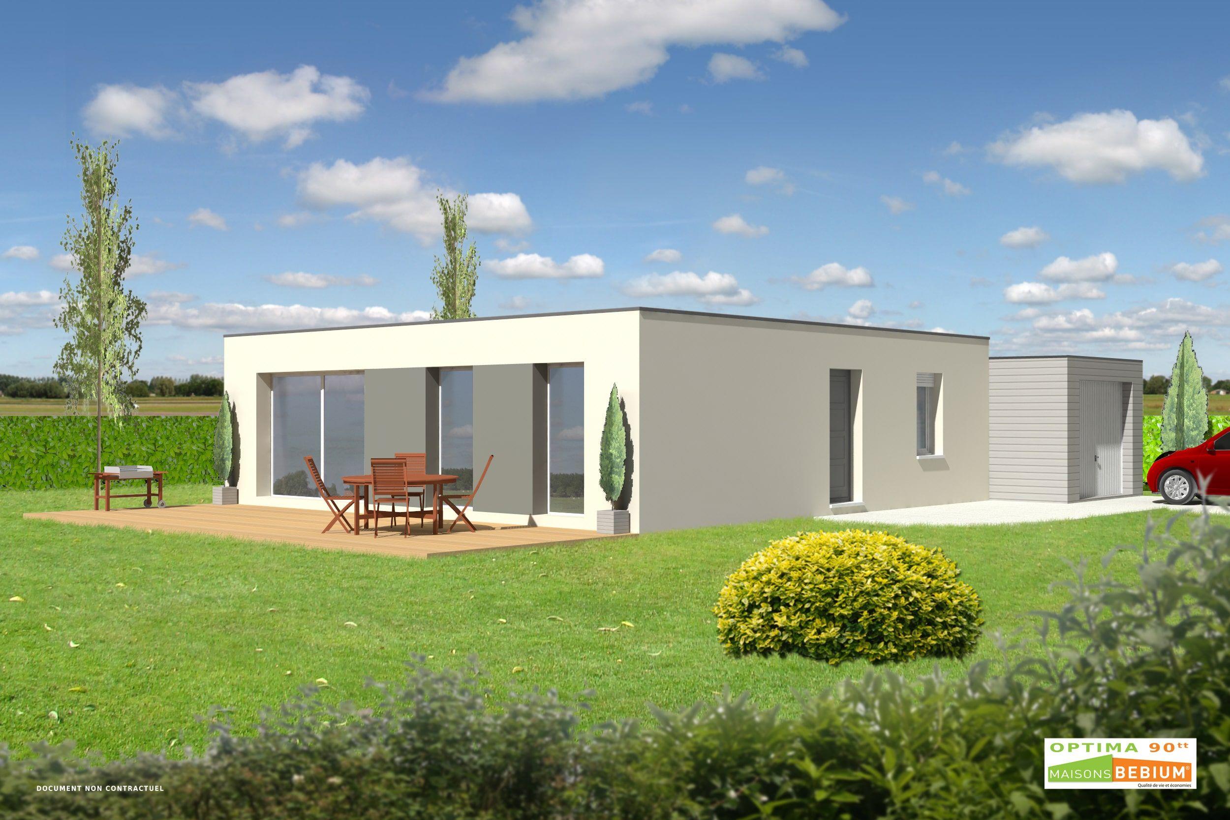 Plan Maison 90 M2 Moderne Bioclimatique Maisons Bebium