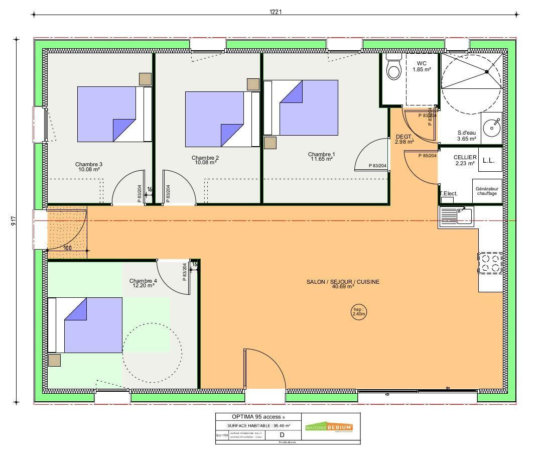Maison Bioclimatique Plain Pied 95 M2 Cle En Main Maisons Bebium